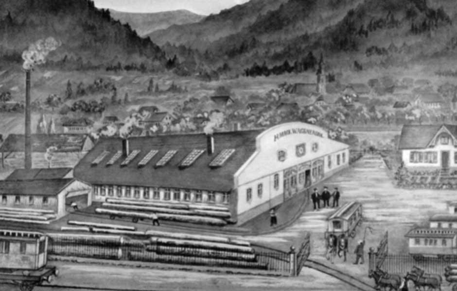 Firmengebäude Heinrich Mack Wagenfabrik